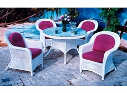 Plymouth Wicker Dining Set of 5 (MF)