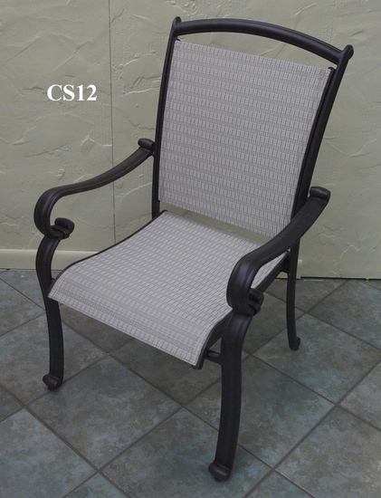 Providence Dining Arm Chair with Sunbrella Sling (UPS $70)