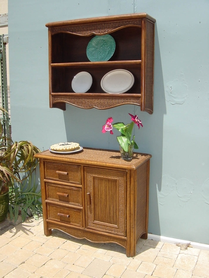Provincial Hutch and Commode (UPS $50) (40% Off!)