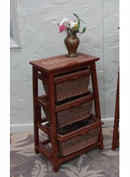 Pyramid Wicker 3-Tiered Shelf Storage (UPS $35)