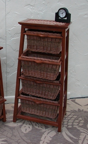 Pyramid Wicker 4-Tiered Shelf Storage (UPS $55)