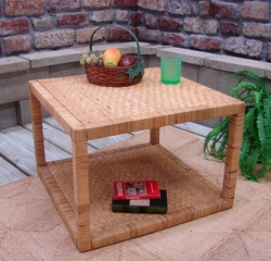 Rattan Square End Table (UPS $65)