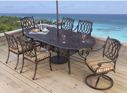 "<b>Santorini Oval 84"" X 42"" Dining Collection</b>"