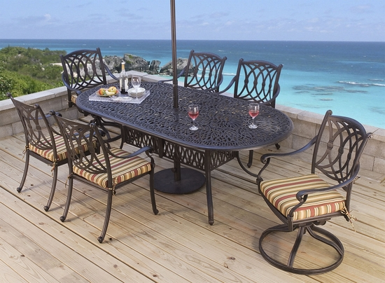 Santorini Oval Dining Set of Nine (MF) (15% Off!)