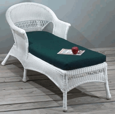 Seabreeze Chaise Lounge Cushion with Fran's Indoor/Outdoor Fabrics (UPS $30)