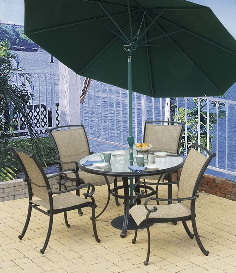Somerset Round Glass Top Table (MF)