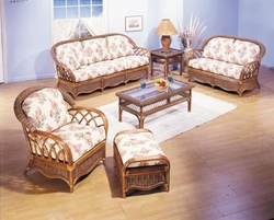 Sovereign Loveseat Cushions with Fran's Indoor/Outdoor Fabrics (UPS $50)