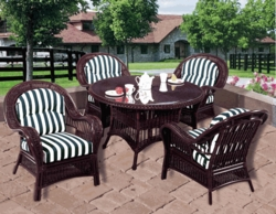 Spring Lake Dining Chair Cushions with Fran's Indoor/Outdoor Fabrics (UPS $25)