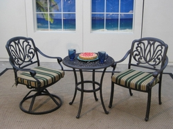 Springfield Bistro Set of 3 with Arm Chairs (UPS $125)