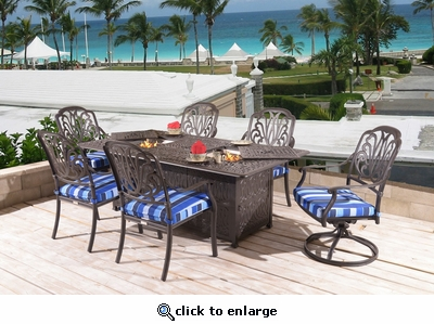 Springfield Double Fire Pit Set of 7 (MF)