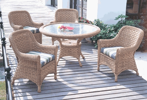 Tahiti Dining Chair Cushions Set of 2 with Fran's Indoor/Outdoor Fabrics (UPS $35)