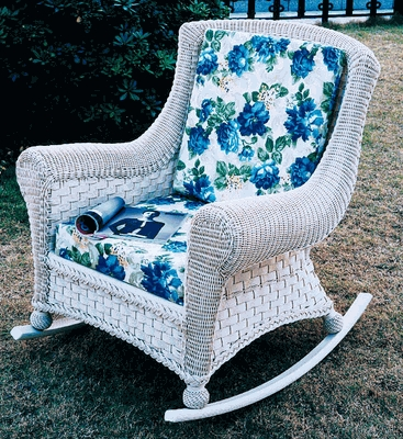 Tahiti Rocker Cushion with Sunbrella & Richloom Premiere Fabrics (UPS $25)