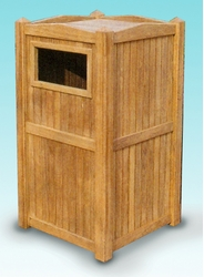 Teak Trash Receptacle (UPS $85)