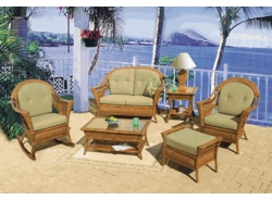 Trinidad Loveseat Cushions with Fran's Indoor/Outdoor Fabrics (UPS $50)