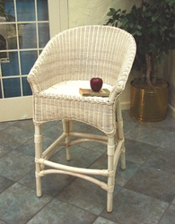 Wicker Back Barstool (UPS $70)