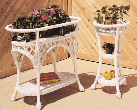 Wicker Three Tier Planter (UPS $20)