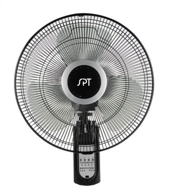 """Sunpentown 16"""" Wall Mount Fan with Remote Control"""