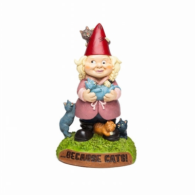Crazy Cat Lady Gnome