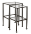 2 Piece Glass and Metal Nesting Tables 901073