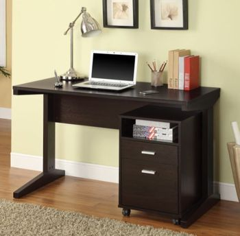 New in a box 2-Piece Writing Desk Set Cappuccino