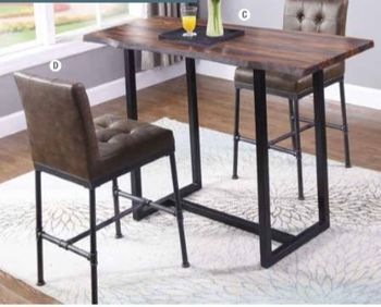 3PC Stoneview Live-edge Bar Table with Stools by Scott Living