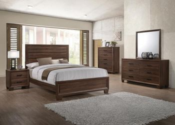 4PC Brandon Queen Panel Bedroom set # 205321