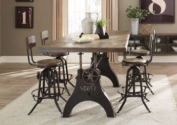 5PC Clooney Adjustable Dining Table with chairs Collection by Scott Living