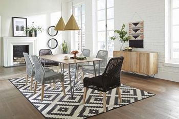 5PC Sundance Dining Table with chairs Collection