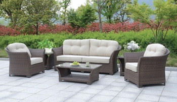 6 PC Bowbells PATIO SET W/ COFFEE TABLE & 2 END TABLES