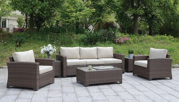 6 PC. Brindsmaid PATIO SET W/ COFFEE TABLE & 2 END TABLES