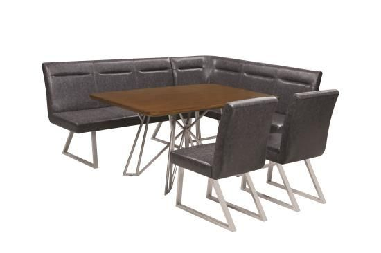 Stupendous Scott Living 6Pc Dining Table Corner Nook Bench Side Chair Caraccident5 Cool Chair Designs And Ideas Caraccident5Info