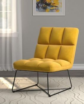 Armless Upholstered Accent Chair # 903836