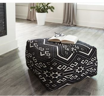 Accent Stool Black And White # 990995