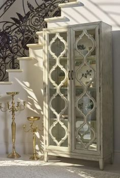 2-Door Tall Cabinet Antique White # 953375
