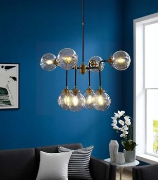 Ambition Amber Glass And Antique Brass 8 Light Pendant 2883 Chandelier