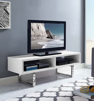 "Amble 47"" Low Profile TV Stand in White 2680"