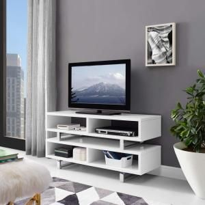 """Amble 47"""" TV Stand in White 2678"""