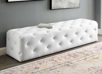 """Anthem 72"""" Tufted Button Entryway Faux Leather Bench # 3771"""