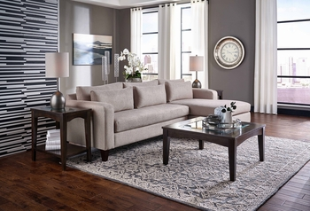 Custom Sectional # 4600-24R 30L Made in USA 2PC Chaise Living room