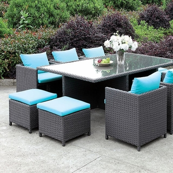 ASHANTI 11 PC. OT2127 PATIO DINING SET
