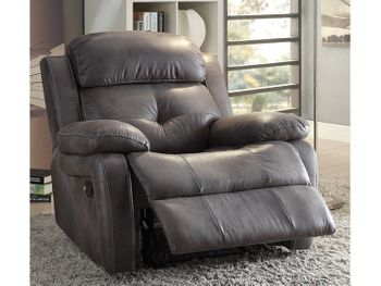 Ashe Recliner Polished Microfiber chair # 59466