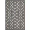 AVENA MOROCCAN QUATREFOIL TRELLIS INDOOR AND OUTDOOR AREA RUG IN GRAY AND BEIGE