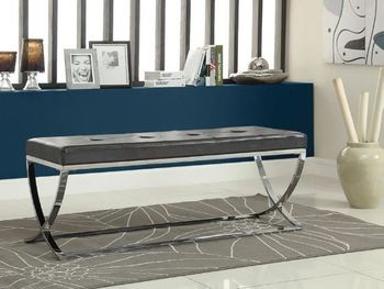 Bench With Metal Base 501157