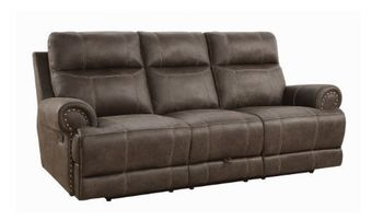 Brixton Upholstered Motion Sofa With Cup Holders 602441