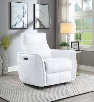 Cecelia Power^2 Glider Recliner With Headrest White