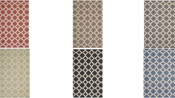 CERELIA MOROCCAN TRELLIS 5X8 INDOOR AND OUTDOOR AREA RUG