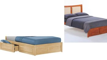 Chameleon Twin Platform bed with 2 Tall storage drawers- K Series / 10 Year Warranty