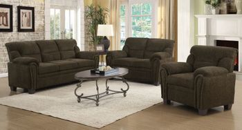 Clemintine Upholstered Sofa With Nailhead Trim 506571