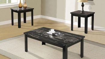 3PC Coffee Table Faux Marble Blythe # 80855