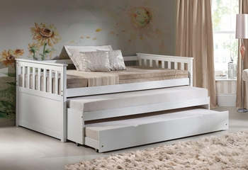 Cominio wooden Day Bed with trundle # 39080